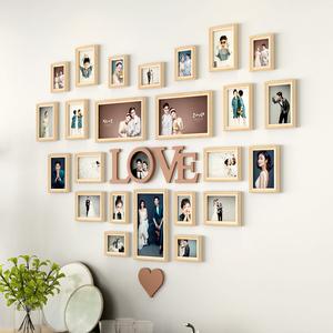 照片墙装饰挂墙免打孔组合轻奢相册