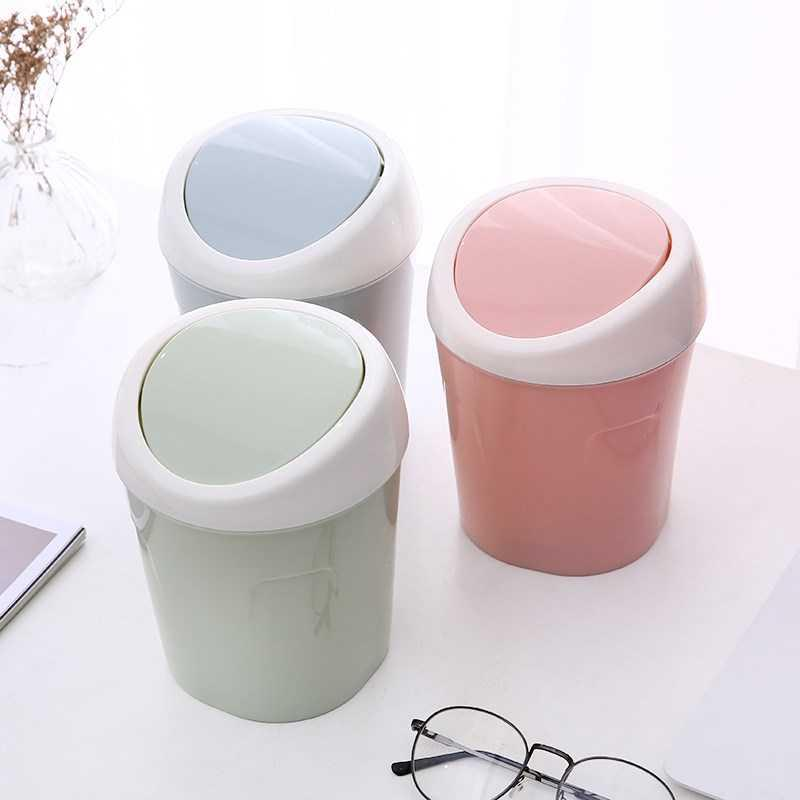 Beauty salon bathroom family small thickened personality company kitchen simple dustbin with cover office fashion