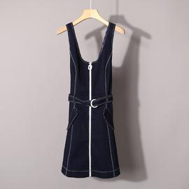 雅系列/贝A 春夏新品时尚女装无袖背带牛仔连衣裙 女DTCPD4210无图片