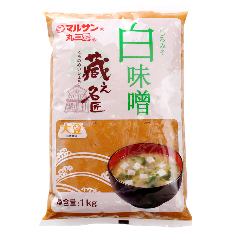 特价丸三(marusan)丸三爱白味增1000g日本日式调味料白味噌大酱汤