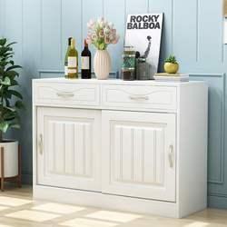 餐边柜小型超薄歺边储物柜 家用北欧现代简约厨房餐厅推拉门多功