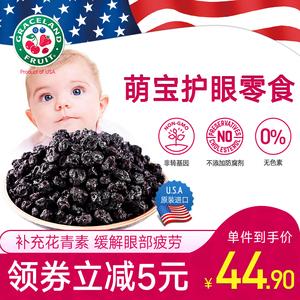 领5元券购买美国进口gracelandfruit蓝莓果干李果蓝莓鲜果休闲零食烘焙无添加
