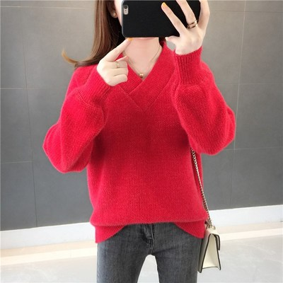 Pullover Sweater womens fall 2020 new loose student sweater small fresh Ruffle coat T-Shirt Top