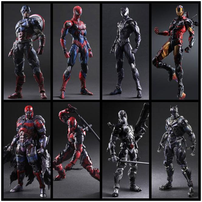 //PA changes Avenger alliance Dr. strange venom deathwatch iron spider man Panther mobile model