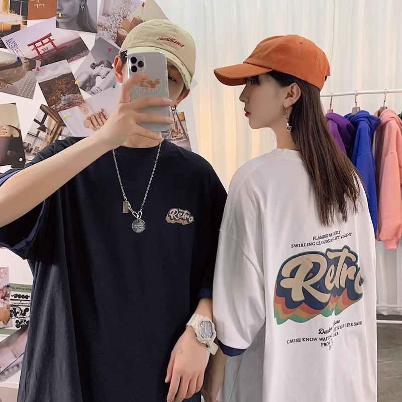 白糖玫瑰店铺港味潮人馆男爱的国度lmhomme新潮情侣装宽松短袖T恤图片