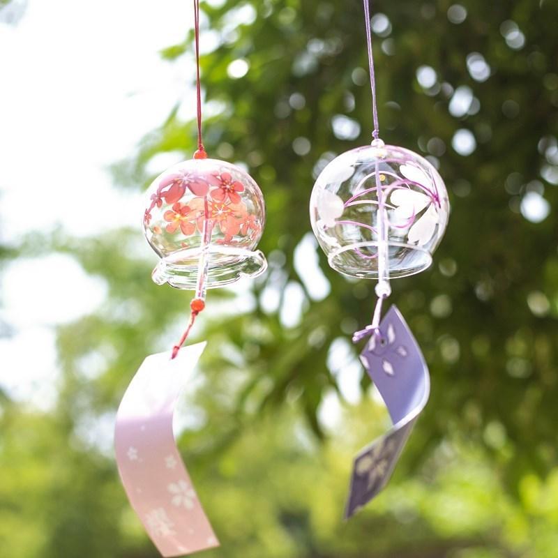 浪漫玻璃铃铛小风铃日式女生挂饰创意挂件小清新闺蜜生日礼物