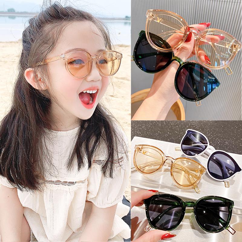 儿童墨镜潮女孩男童防紫外线韩国时尚宝宝眼镜公主可爱女童太阳镜