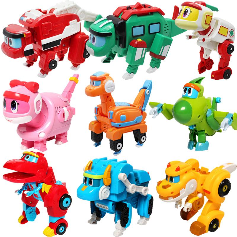 灵动创想正版帮帮龙出动玩具变形全套棒棒龙探险队烈牙象恐龙发声