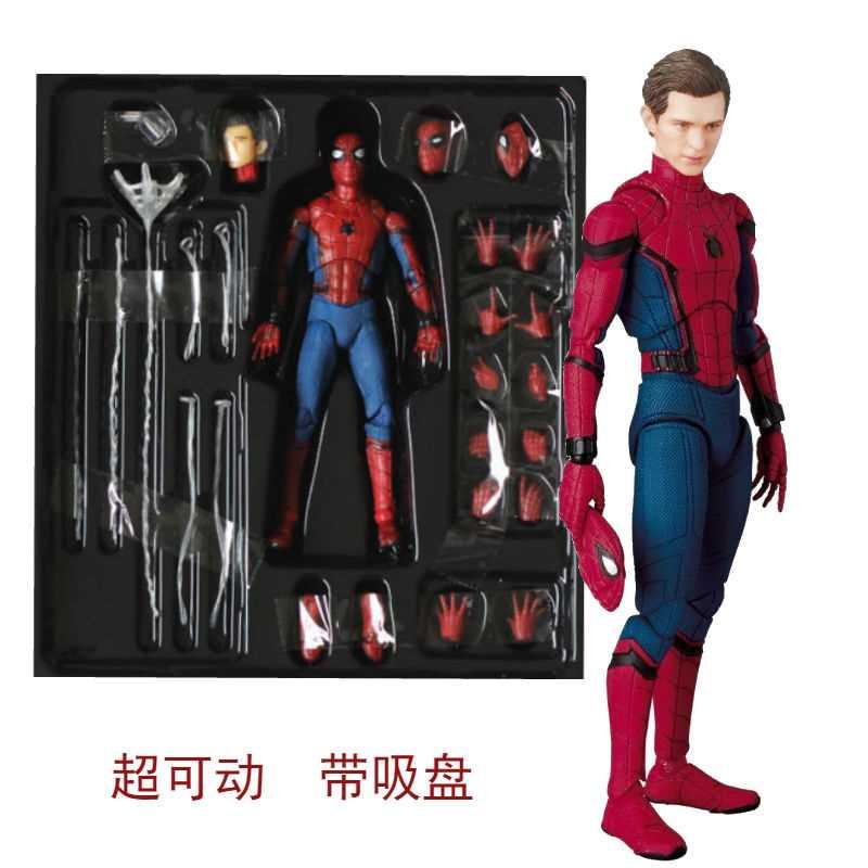 男の子の鋼鉄のおもちゃのスパイダーマンの手は3可動します。