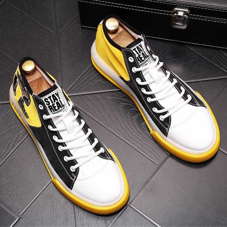 夏季透气帆布鞋韩版时尚运动休闲鞋青年百搭高帮板鞋内男鞋子