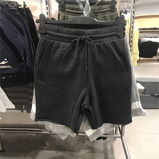 hm twelve男裝2020夏裝新款鬆緊腰抽繩卷邊休閒寬鬆短褲0687635