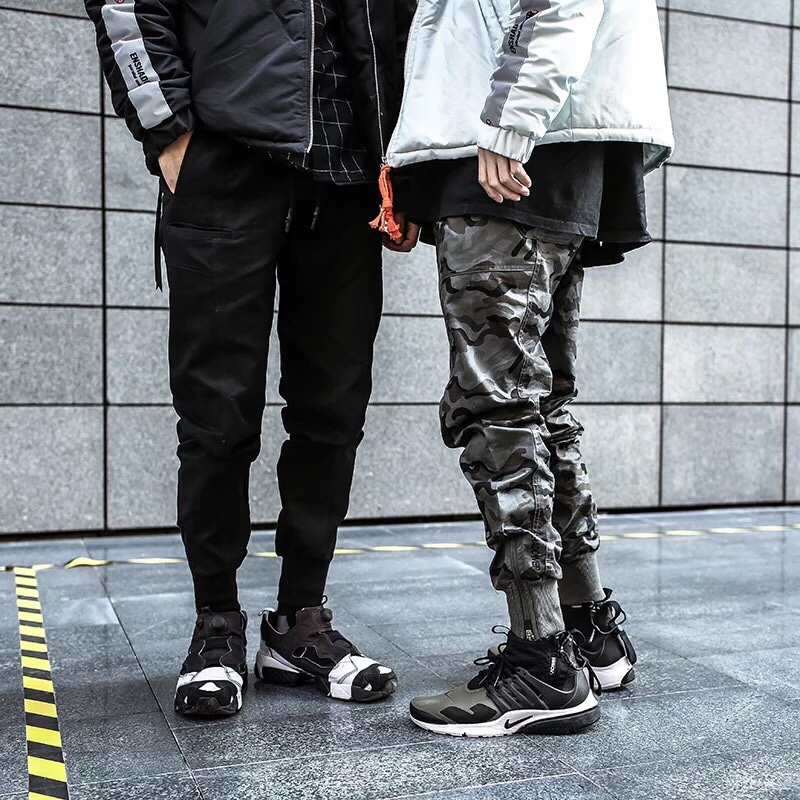 Duo Duo Chao brand covert four generation jogging camouflage overalls Leggings slim sports casual pants mens fashion