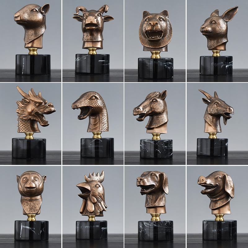 中式冷铸铜十二生肖兽首创意摆设评价好不好