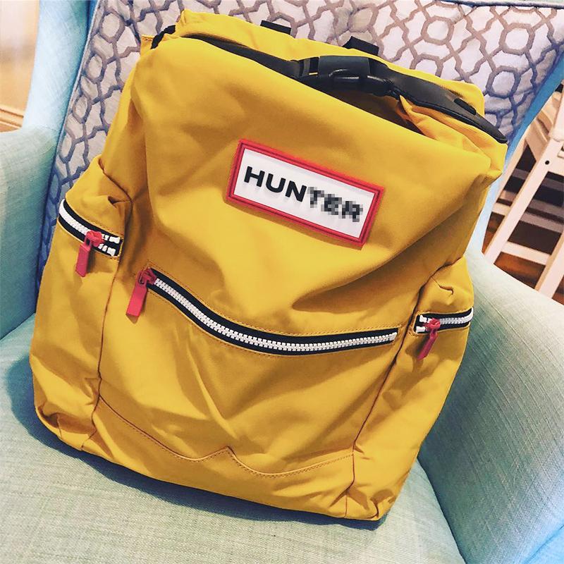 英国Hunter双肩包潮牌书包女大学生大容量旅行防水电脑背包男现货
