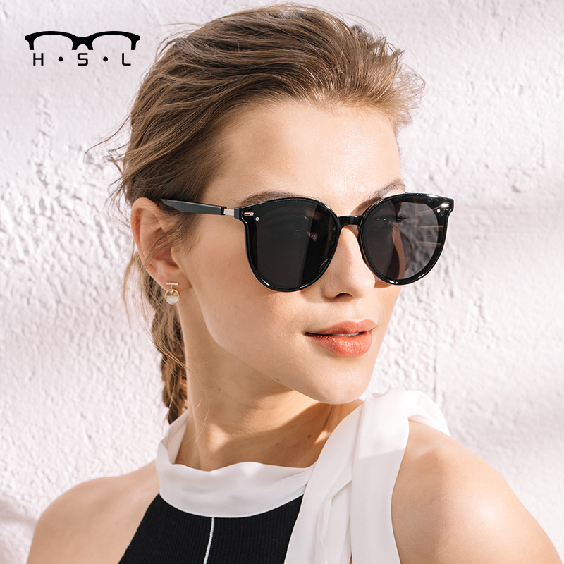 GM Sunglasses Womens and mens Korean fashion ins Polarized Sunglasses driving anti ultraviolet glasses round face 2020 NEW