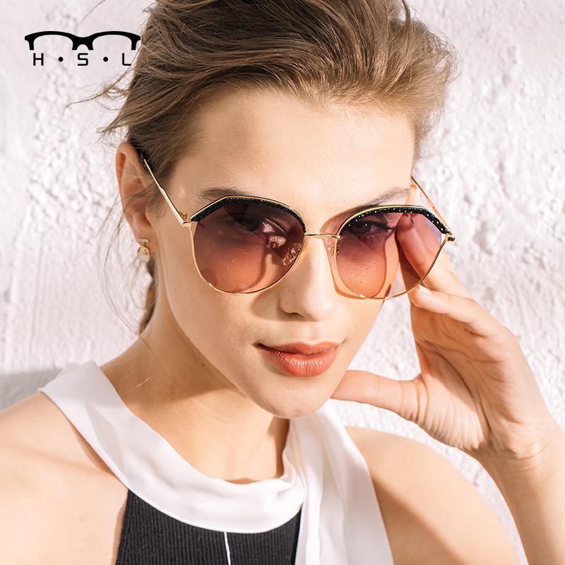 Butterfly frame net Red Sunglasses Womens fashion polarized anti ultraviolet diamond Sunglasses