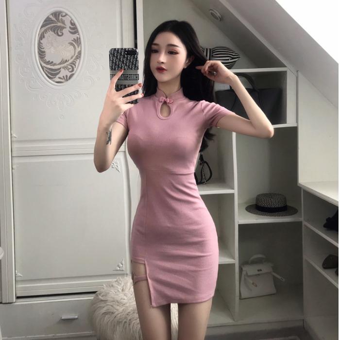 限5000张券夏季2019新款主播复古性感连衣裙