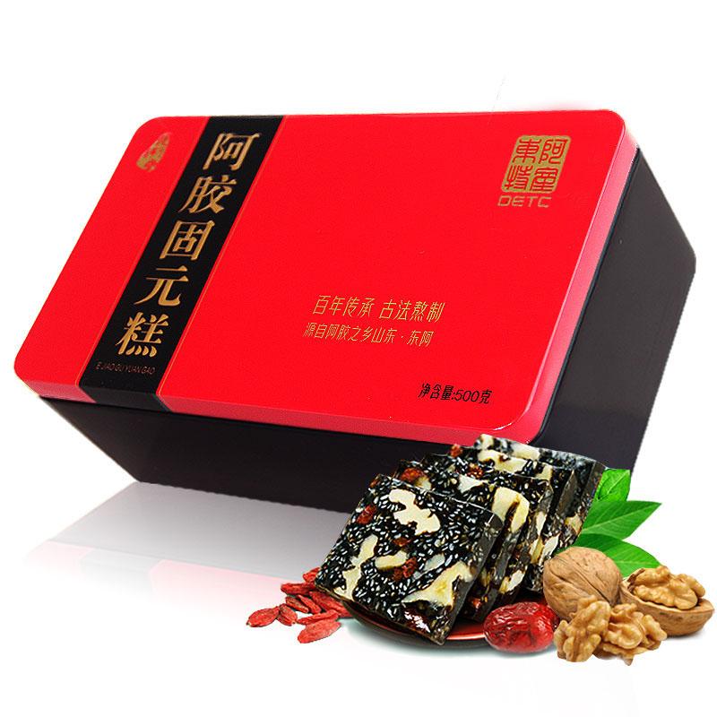 铁盒阿胶糕 即食女士型阿胶糕固元糕500g 山东特产阿胶固元糕膏