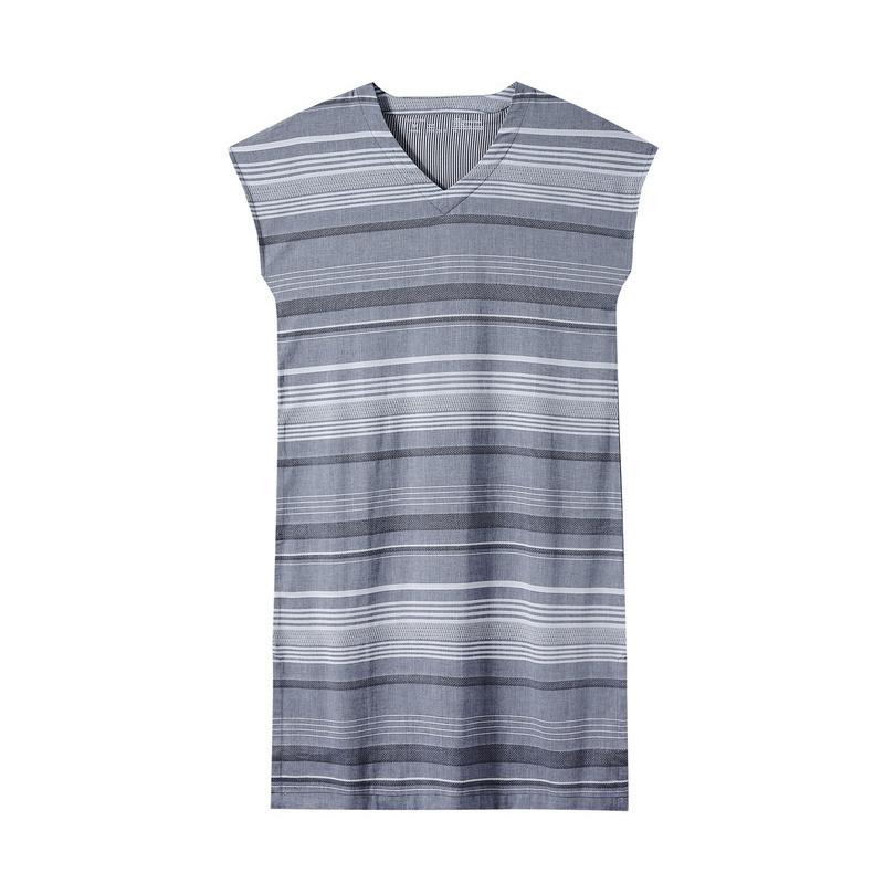 全棉时代 孕妇条纹提花布短袖家居连衣裙 1件装