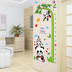 卡通测量身高贴3d立体儿童房墙壁装饰贴画宝宝身高尺墙贴纸可移除