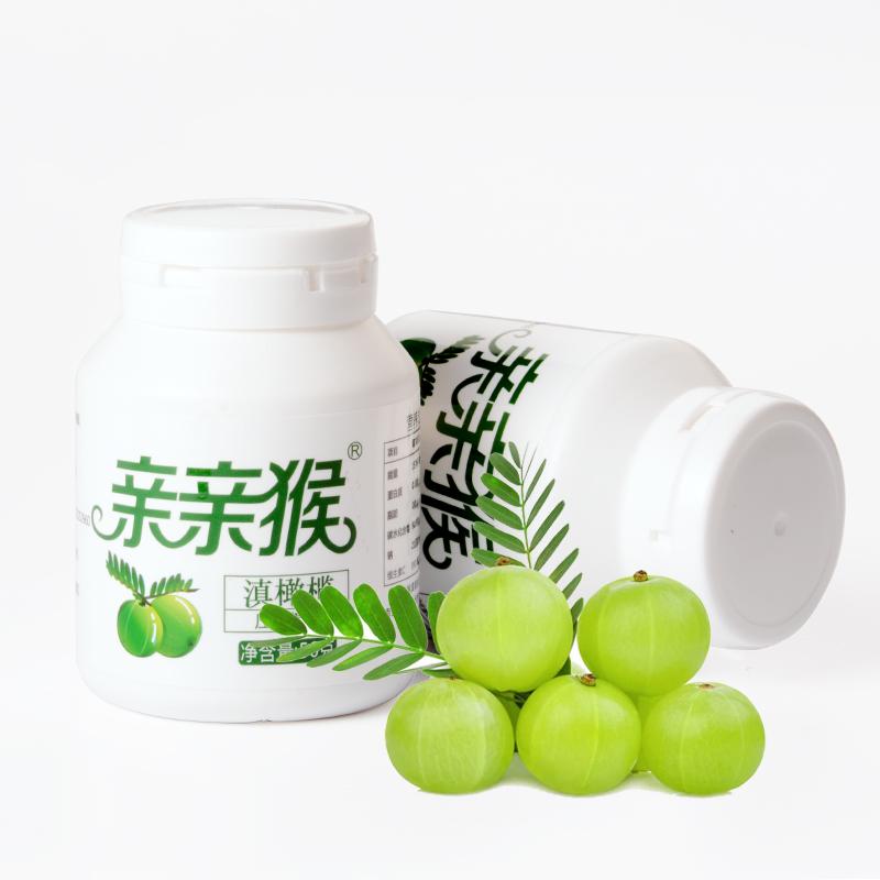 包邮丽江特产格林斯通滇橄榄含片亲亲猴滇橄榄含片50克*6压片糖果