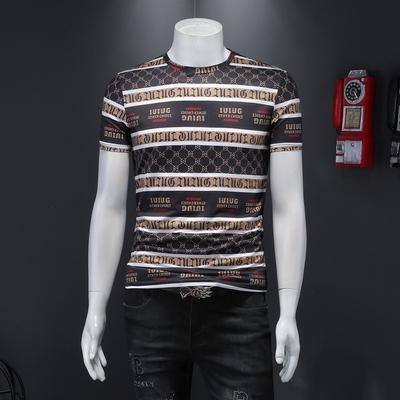 D232     28854   P65    男士 2021新款个性潮流印花字母半袖T恤