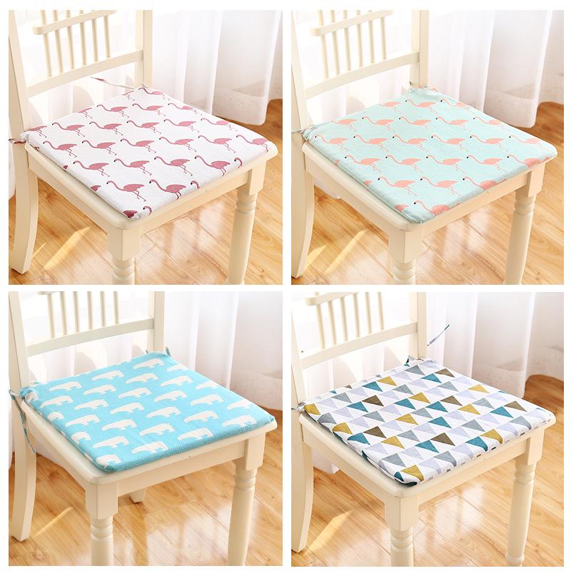 加厚学生坐垫冬季保暖带绑带可拆洗方形透气坐垫办公室座椅垫座垫