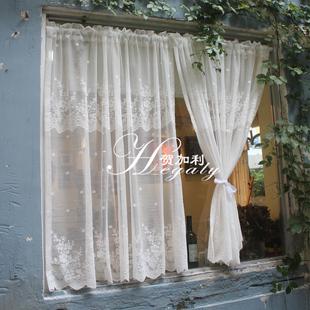 HEGALY|成品窗帘窗纱英式乡村出租屋半帘遮挡宿舍免打孔可定制图片