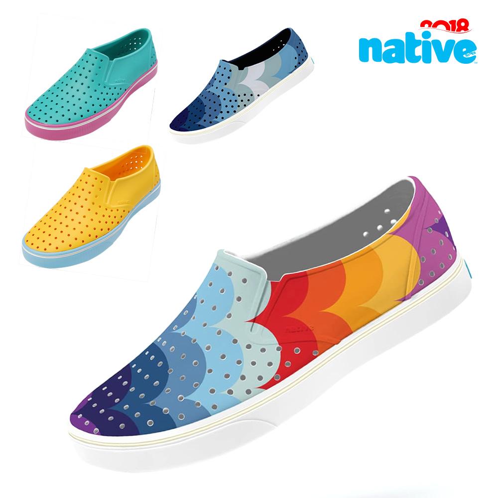 Native Miles Print 2018SS新款正品洞洞鞋 男鞋女鞋休闲沙滩凉鞋