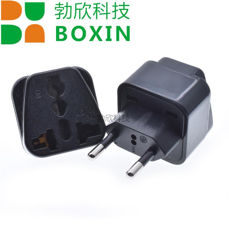 菱形嵌入式巴西转换插座欧式双圆插头转换插座万用转换插WD-9C-1