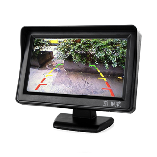 9V-35V汽车遮阳罩4.3寸车载车用显示器/二路AV输入液晶显示屏DV