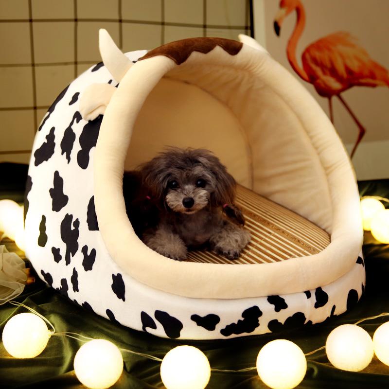 狗窝四季通用狗床房子型猫窝小型犬泰迪可拆洗床垫宠物狗狗用品