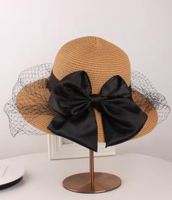 小确幸家帽子女夏蕾丝网纱防晒遮阳帽大檐帽出游帽沙滩草帽太阳帽