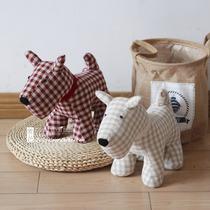 新品原创意布艺可爱小狗狗公仔玩偶玩具儿童布娃娃礼物抱枕摆件