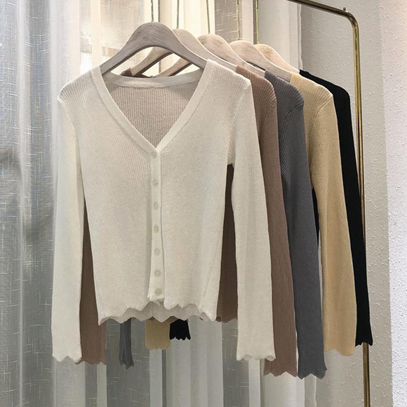 2018夏新款舒服凉凉冰丝防晒针织开衫空调衫 5色基础款包邮
