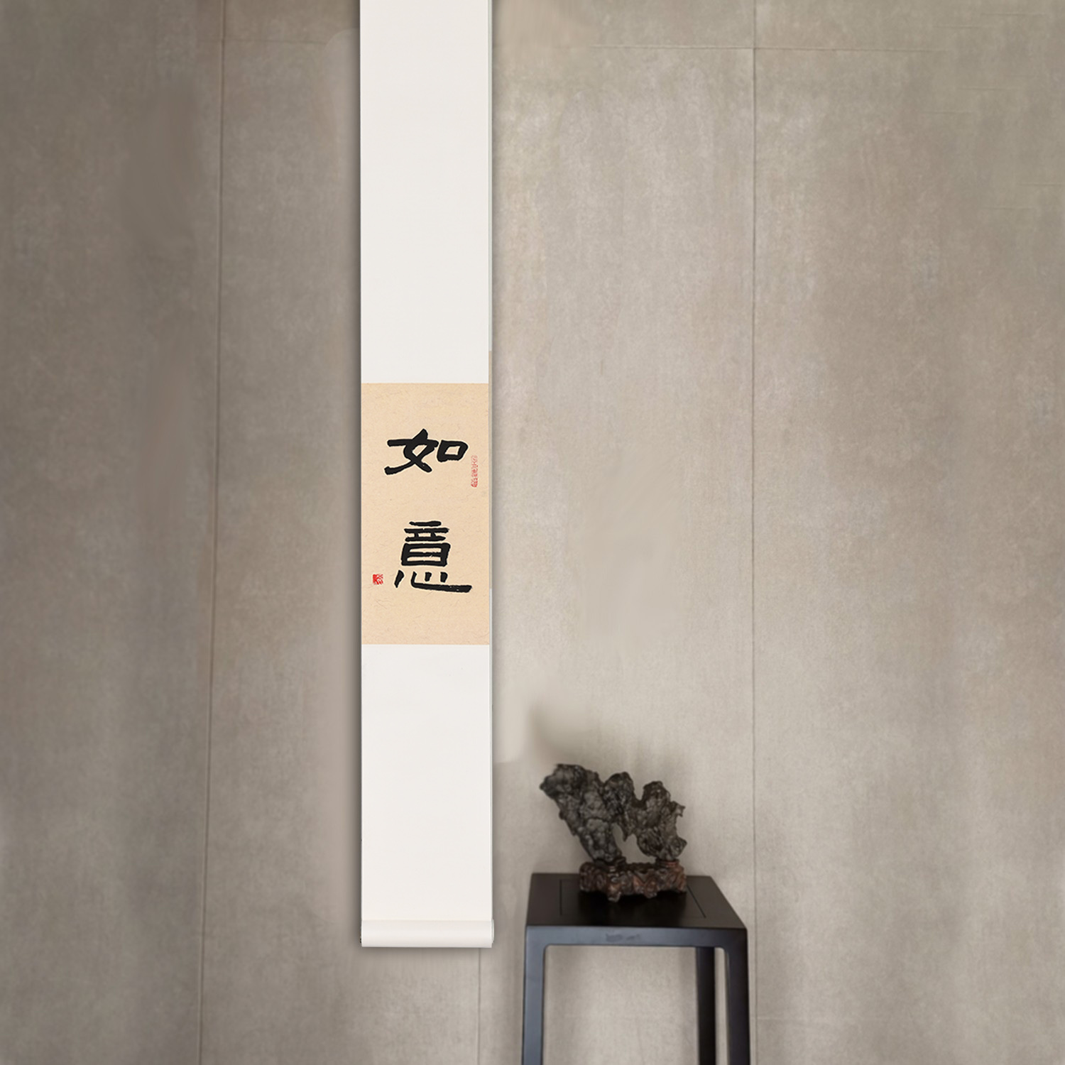 Insect two calligraphy and painting New Chinese Zen calligraphy and painting porch song style mounting decorative painting Japanese mounting scroll hanging painting