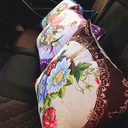 汽车2020新款刺绣车上车内车里放的十字绣抱枕套一对枕头自己车用