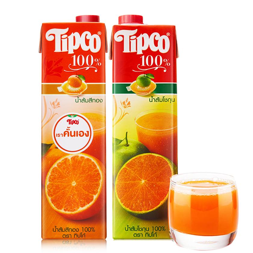 2瓶泰宝青橙汁 泰国进口NFC纯果蔬汁 大瓶多口味整箱喜宴网红饮料