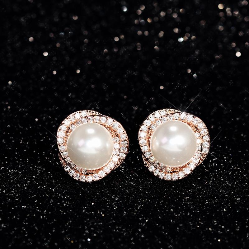 優雅珍珠無耳洞耳夾無洞耳環時尚S925銀針耳釘耳飾品氣質女0259
