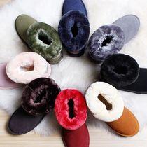 雪地靴男皮毛一体户外中短靴女韩版冬季保暖加绒防水防滑加厚棉鞋