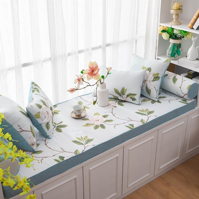 夏季卧室小阳台垫子定做风飘窗垫满88.41元可用1元优惠券