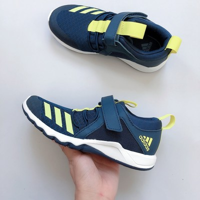 Adidas children's shoes for boys and girls in summer without a pedal, lightweight and breathable casual sports running shoes D96632