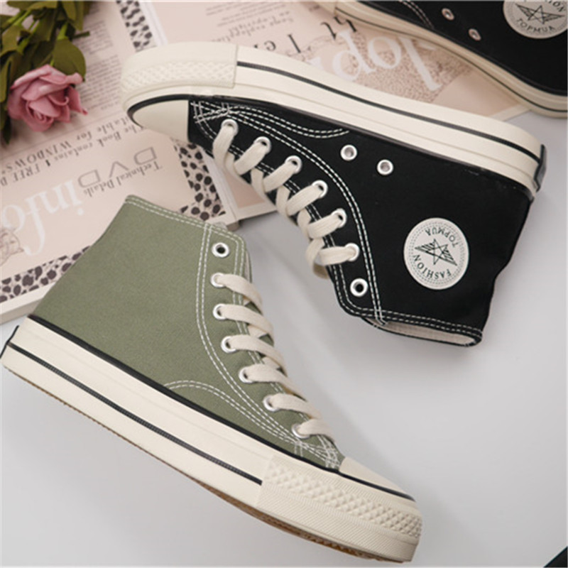 Popular classic high top canvas shoes womens shoes mens shoes lovers shoes leisure low top running shoes in spring and summer 2020