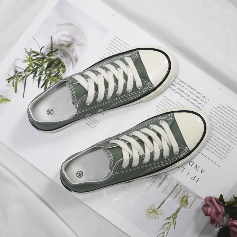 Canvas shoes womens trend ulzzang versatile board shoes low top breathable small white shoes 2020 new student flat bottom