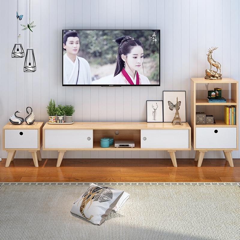 Простой телевизионный шкаф сочетание современный спальня нордический дерево небольшой квартира телевизор кабинет гостиная шкафы
