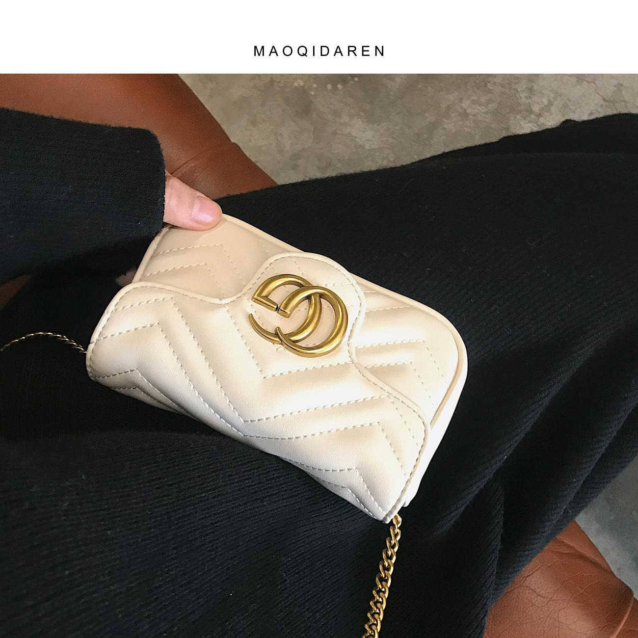 小香风包包女2020春夏新款菱格链条包时尚单肩斜挎包百搭洋气小包图片