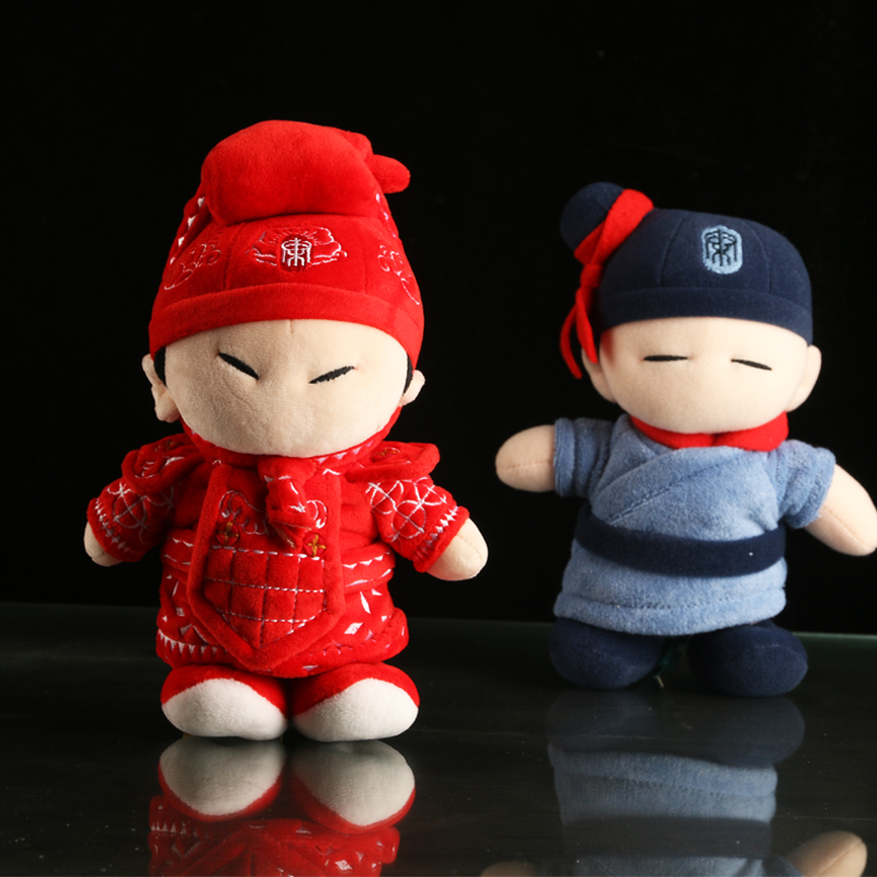 Shaanxi Xi'an tourist souvenir gift Qin Qin Qin Qin baby terracotta warriors doll Q version doll toy for children