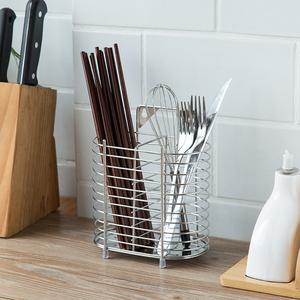 一点灵不锈钢筷子筒A型创意筷子盒餐具收纳沥水架厨房置物架无磁