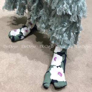 洞洞妖 日本春秋分趾袜二趾袜男女中筒纯棉羊蹄袜网红日系猪蹄袜