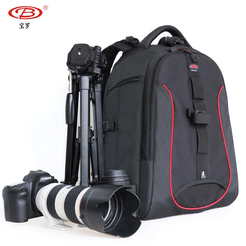 宝羅一眼レフカメラの撮影かばんの双肩のカバンの専門のパスワードの盗難防止の大容量の大砲の一眼レフカメラのリュックサックのデジタル。